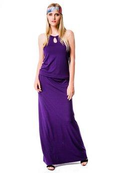 Длинное летнее платье с открытыми плечами Mondigo