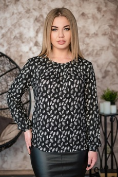Блуза с рисунком перья Шарлиз