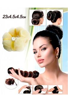 Валик для волос для создания прически «ПУЧОК» цвет блонд 18,5х3х3 см Bradex