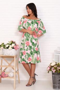 Летнее платье с листьями Натали